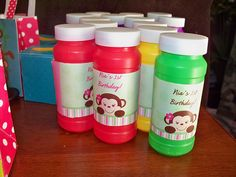 monkey theme 1st birthday for girl. Mod Monkey