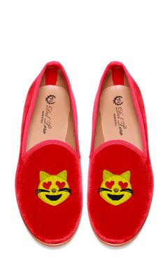 shoes with cat emoji on them