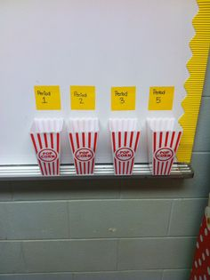 Pop sickle stick buckets to randomly call on students