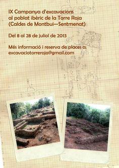 IX Campaña de excavaciones en el poblado iberico de la Torre Roja (Caldes de Montbui, Sentmenat, Barcelona), del 8 al 28 de julio de 2013.