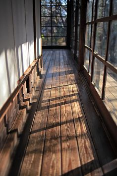 rustic hallways.