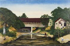 Grandma Moses, Old Covered Bridge, Woodstock © Grandma Moses Properties Co., New York