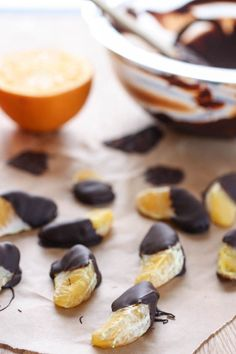 Chocolate Dipped Oranges - These just sound amazing to me....being pregnant and all! Must make to go with the choco covered strawberries!!!! #chocolates #sweet #yummy #delicious #food #chocolaterecipes #choco #chocolate