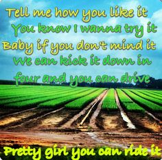 Country lyrics country quotes  Florida Georgia line tell me how you like it