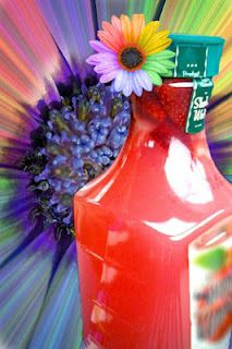 """Hippie Juice"" - Watermelon vodka, Malibu rum, triple sec, fresh strawberries, and pink lemonade mix"