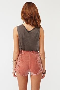 Velvet corset shorts