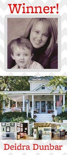 Congratulations to Pin & Win Finalist Deidra Dunbar! See her winning board here: http://pinterest.com/deidradunbar/my-better-homes-and-gardens-dream-home/