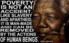 Nelson Mandela's quote on poverty.