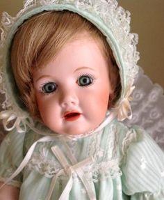 Antique German Doll Kestner 13 in bisque glass by CarolinaRain, now 20% off