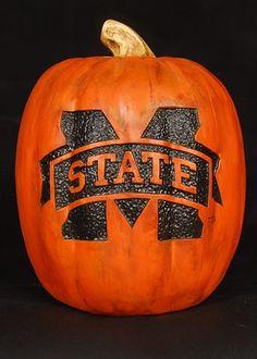 Mississippi State Bulldogs Fall Pumpkin Decor