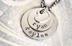 Hand Stamped Necklace  Mommy Jewelry  Two by StampedMemoriesbyMel, $26.00