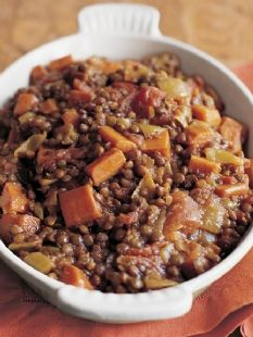 Barefoot Contessa - Recipes - Stewed Lentils & Tomatoes