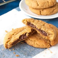 Nutella Stuffed Peanut Butter Cookies - The Tough Cookie