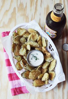 Fried Pickles and Spicy Dill Pickle Mayo