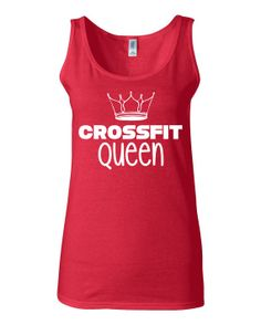 Funny Crossfit Tank Crossfit Queen Cross Fit Clothing for Women by