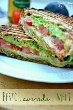 Pesto Avocado Melt from www.lemontreedwelling.com