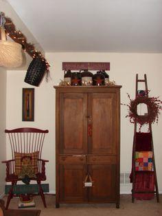 primitive living room decorating photos | Primitive Country Living Room - Living Room Designs - Decorating Ideas ...