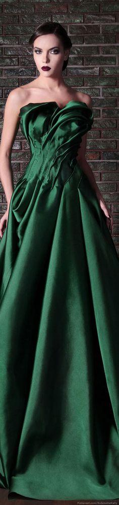 vestido verd, fw 2014, rami kadi | couture,  f/w 2014