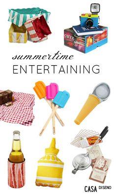 Fun and Memorable Summer Decor Statements #summer #decorating #entertaining #decor