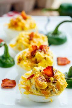 Jalapeno Popper Deviled Eggs cook, egg appetizers, dip, food, eat, popper devil, deviled eggs, jalapeno poppers, devil egg