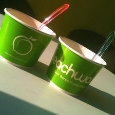 Peach Wave, frozen yogurt in Holland, MI.