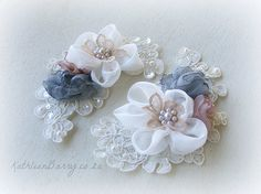 R350 Corsage or wedding dress motif or by KathleenBarryJewelry, $35.00