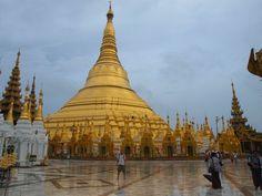 pagodas in yangon | The Shwedagon Pagoda in Yangon