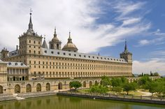 San Lorenzo del Escorial (Madrid), the palace of the Emperors of Spain, with a very nice village around it, and lots of hiking opportunities ! Yes, just 30 minutes of Madrid