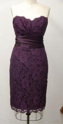 Purple Lace--So Classy! With A Pair Of Nude Pumps! Yes!