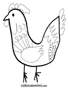 Free Printable Rooster | ... to download this printable to color: Spring Coloring Pages – Rooster