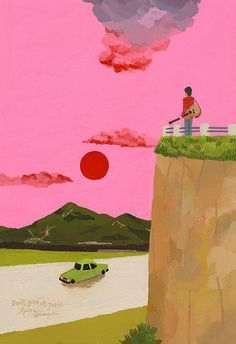 The illustration for an essay /Don't give up Japan by Hiroyuki Izutsu,  昼寝するお化け2014年1月・磐梯山・72 | Flickr - Photo Sharing!