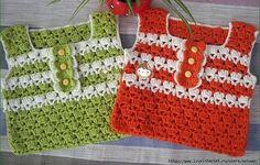 Tops colorés et leurs grilles gratuites ! - Modèles pour Bébé au Crochet