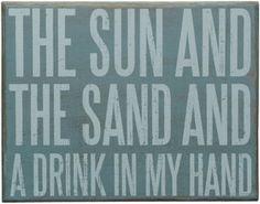 Sun, Sand Coastal Decor Sign