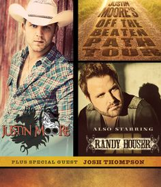 """CONCERT ANNOUNCEMENT: Justin Moore's """"Off The Beaten Path Tour"""" with special guests Randy Houser & Josh Thompson at the Chaifetz Arena Thursday, March 27th, 2014! Tickets on sale Friday, November 15th at 10am. #GetYourCountryOn"""