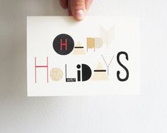 A modern holiday greeting you can print yourself. $3.00