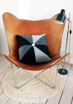 Leather Butterfly Chair | Mid Century Modern