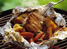 grill recipes, pork pack, bbq sauces, foil dinners, camping dinners