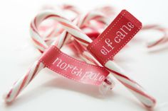 Candy Cane Flag #Labels Printable.