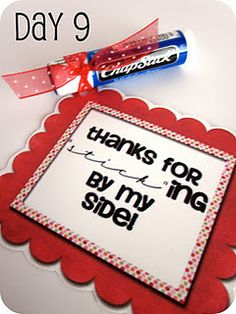 14 Days of Valentines- printable tags to attach to 14 small gifts