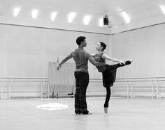 Tamara Rojo and Carlos Acosta in the studio rehearsing La bayadere Act I (coached by Natalia Makarova) #ballet