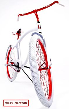 Lollipop Red  Limited Edition Custom Beach Cruiser Bicycle by Villy Custom  www.villycustoms.com