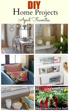 DIY:: Budget & Beautiful Amazing Full Home Decor Projects (Step by Step Tutorials for each) ! Jessica @Mandy Dewey Generations One Roof is another great blogger who teaches you how to create a beautiful Home you & your family will love on a limited Budget !