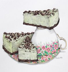 Green Grasshopper Cheesecake, for those with a penchant for mint choc chip deliciousness
