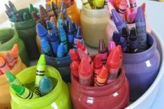 Fun uses for baby food jars: Desk Organizer - @Lillie Boles via @BabyCenter