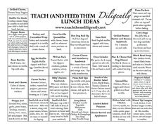 Homeschool lunch ideas - So glad to know I'm not the only one who struggles with making lunch in the middle of the school day.