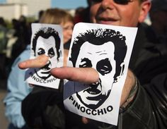 Nicolas Sarkozy; well, there's one of the many people who don't like him. No wonder he lost the elections.
