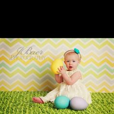 Easter backdrop idea...with blanket for floor.