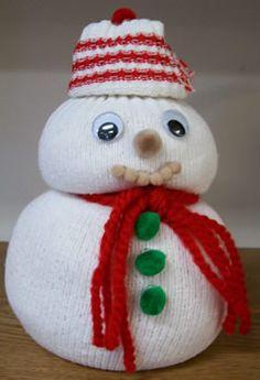 tube sock snowman