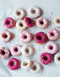 mini glazed doughnuts - tiny v day treats for tinys!