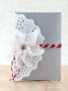 cute idea -  vellum pinwheel